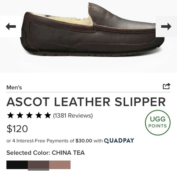 UGG Other - UGG Men's Ascot Leather Slipper
